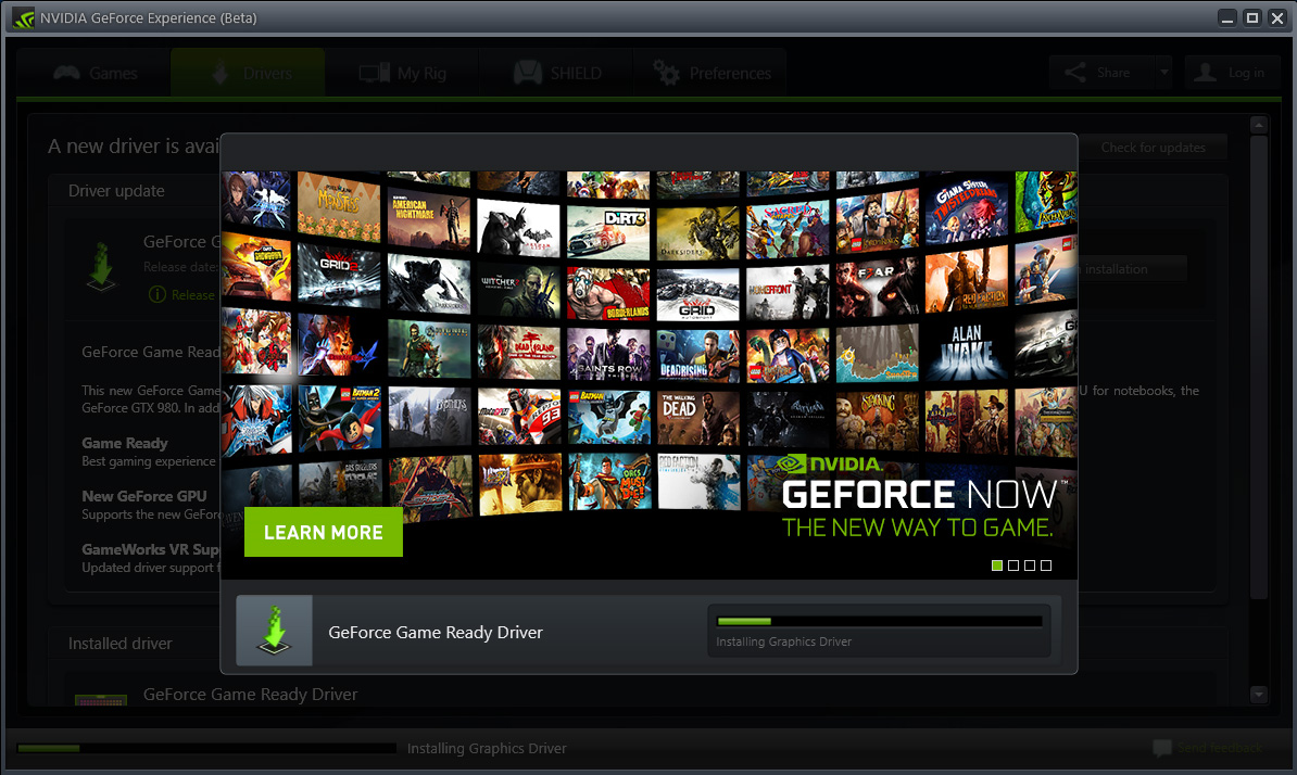nvidia geforce opengl driver download