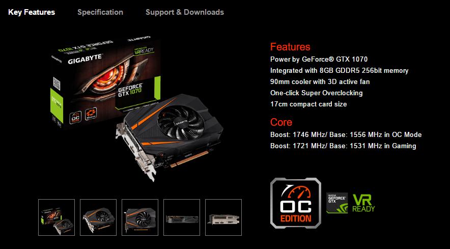 Gigabyte GTX 1070 Mini ITX OC Unleashed - Fastest SFF Gaming