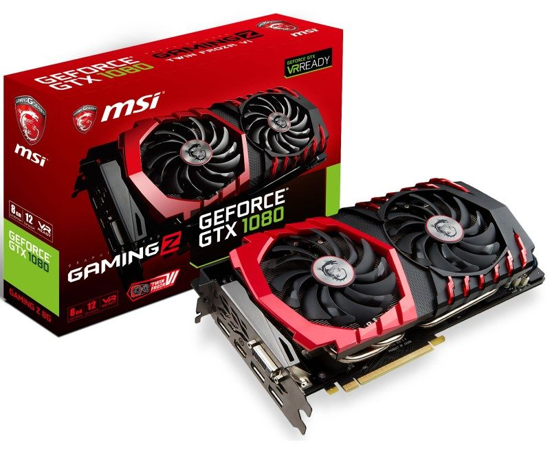 MSI GeForce GTX 1080 GAMING Z Features Faster Clocks Than The GAMING X variant – Uses Similar Cooling Solution For Optimum Temperature Control