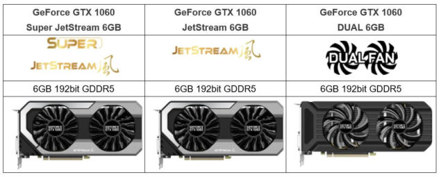 Palit GeForce GTX 1060 Series