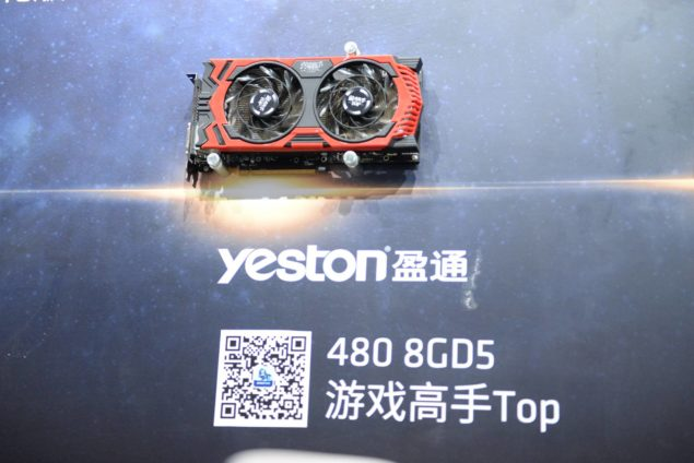 Yeston Radeon RX 480 Gamer Top