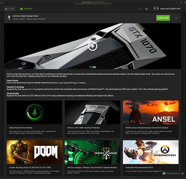 GeForce Experience 3.0 Live Now; 2X Decrease in Memory ...