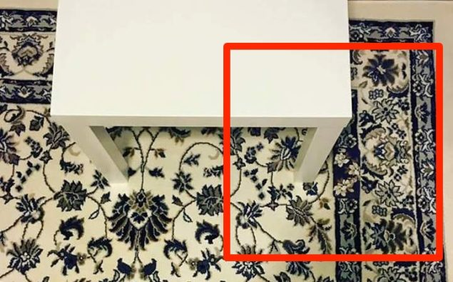 hidden iPhone on carpet highlight area