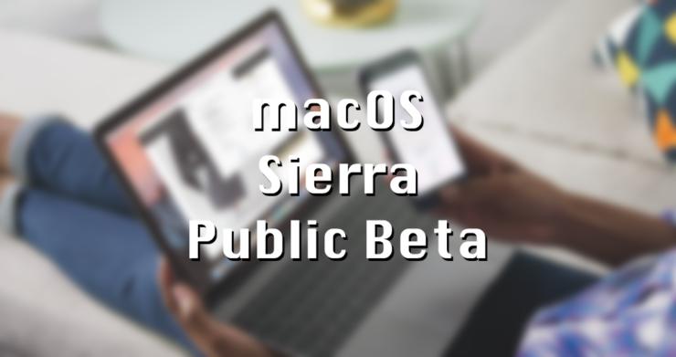 macOS Sierra Public Beta