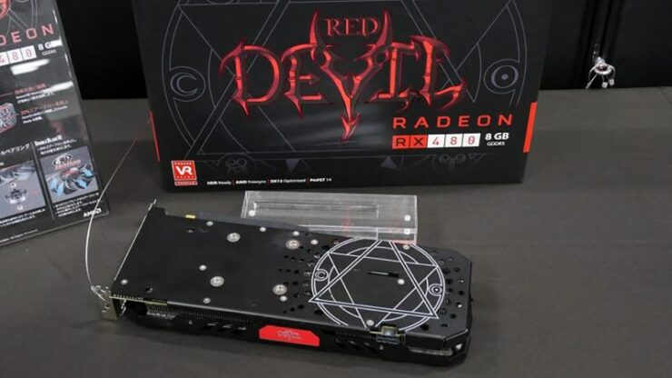 PowerColor RX 480 Devil Pictured With A Custom Backplate And GPU Clock Speed Info – Will Be Announced Soon