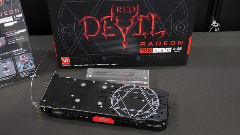 PowerColor RX 480 Devil Pictured With A Custom Backplate And