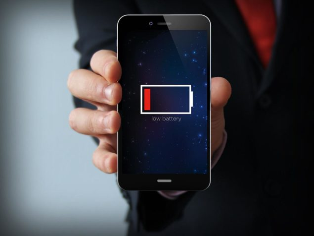 smartphone-battery low