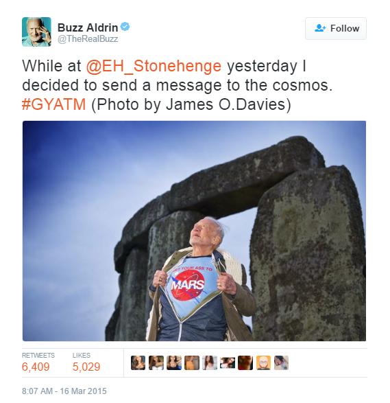 Buzz aldrin tweet