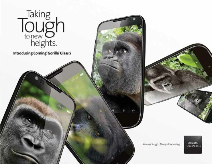 Corning replies on Gorilla Glass 5