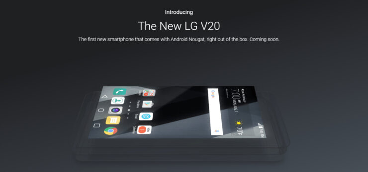 LG V20 confirmed first phone running Nougat 7.0
