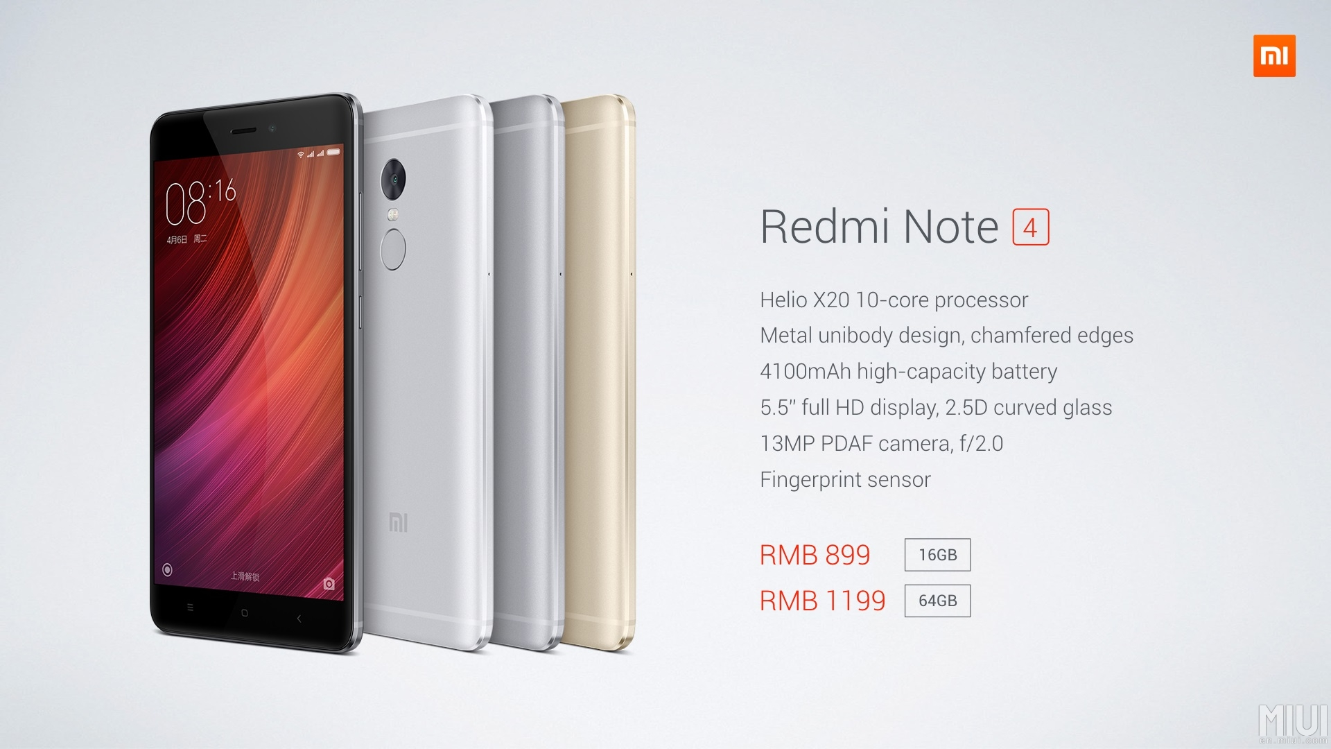 Xiaomi Redmi Note 4 Officially Announced  U2013 Massive Battery
