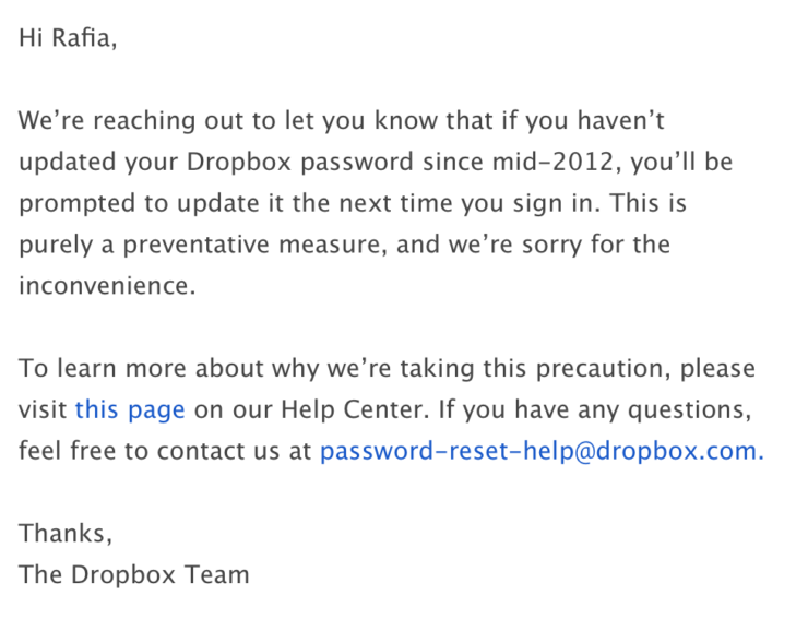 Dropbox data breach