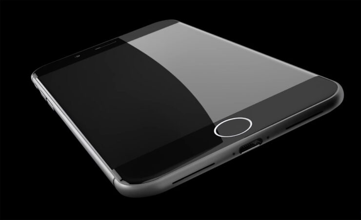 iPhone 8 OLED curved edge display
