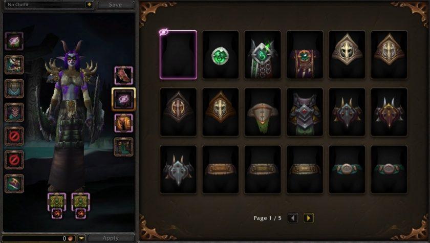 WoW Legion PAtch 7.1 PTR Changes UI