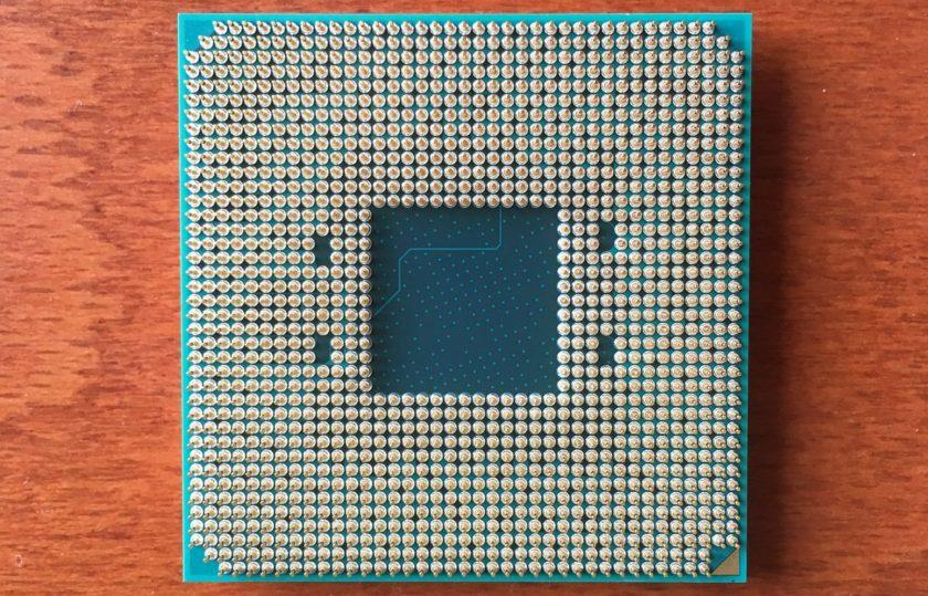 AMD Zen / Bristol Ridge CPU Backside