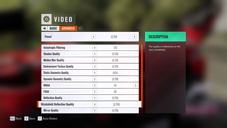 Forza Horizon 3 PC Graphics Settings, Controls Menu Detailed
