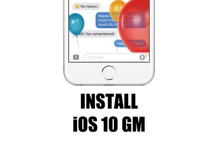 Install iOS 10 GM