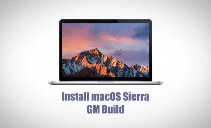 Install macOS Sierra GM