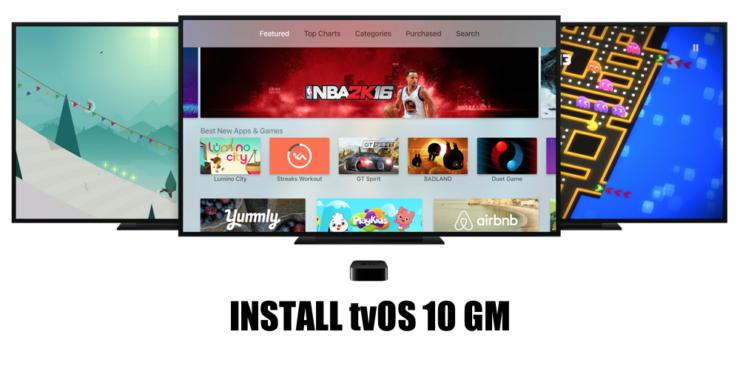 Install tvOS 10 GM