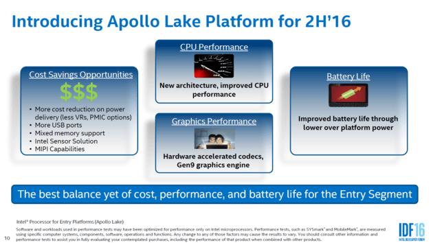 Intel Apollo Lake chips compared