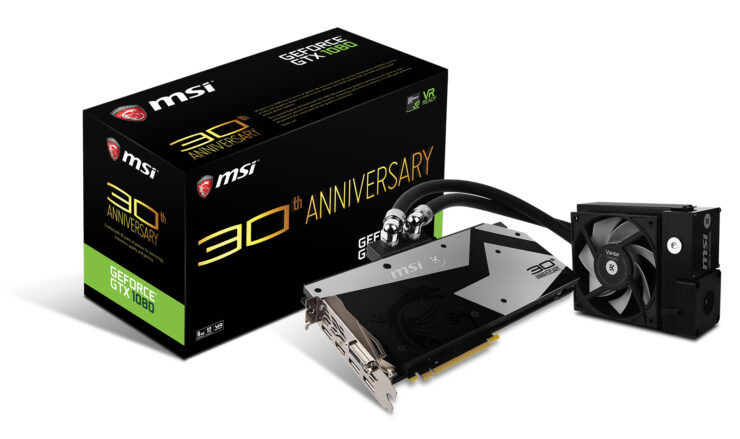 MSI Announces Its GTX 1080 30th Anniversary Edition – Limited Edition GPU With Decorated Waterblock