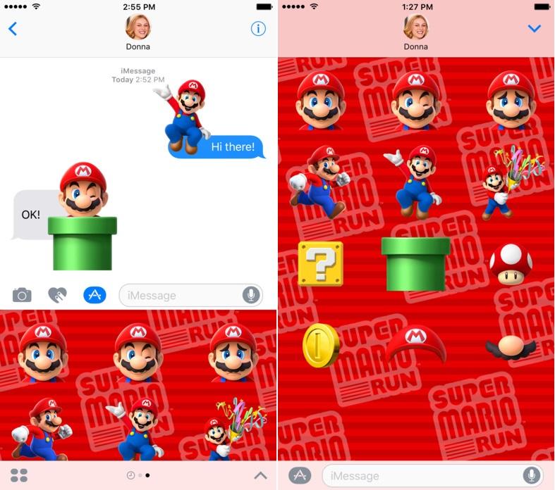 Nintendo Released Super Mario Run Stickers On The iMessage