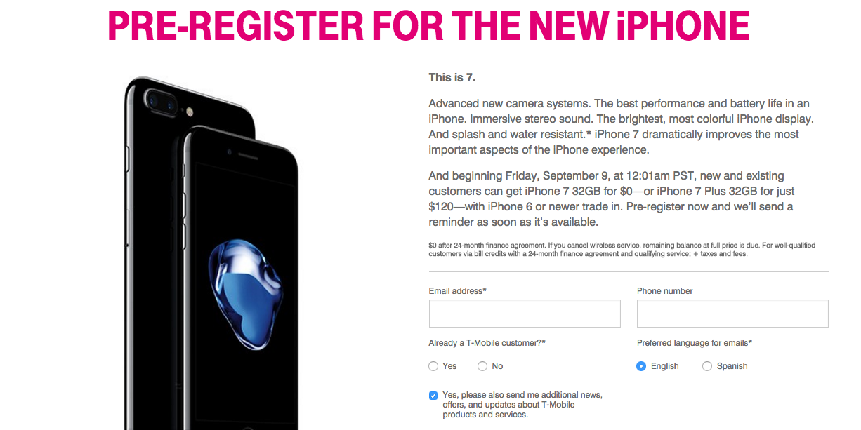 t mobile iphone trade in t mobile delivers superbly iphone 7 offered for free with 18063