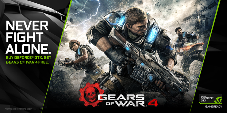 NVIDIA Geforce Gears of War 4 GTX bundle