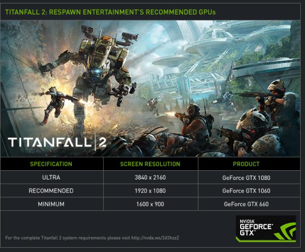 NVIDIA Titanfall 2 4K 60FPS titan X