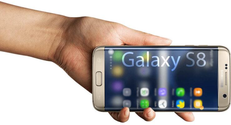 Samsung Galaxy S8 bezel-less concept