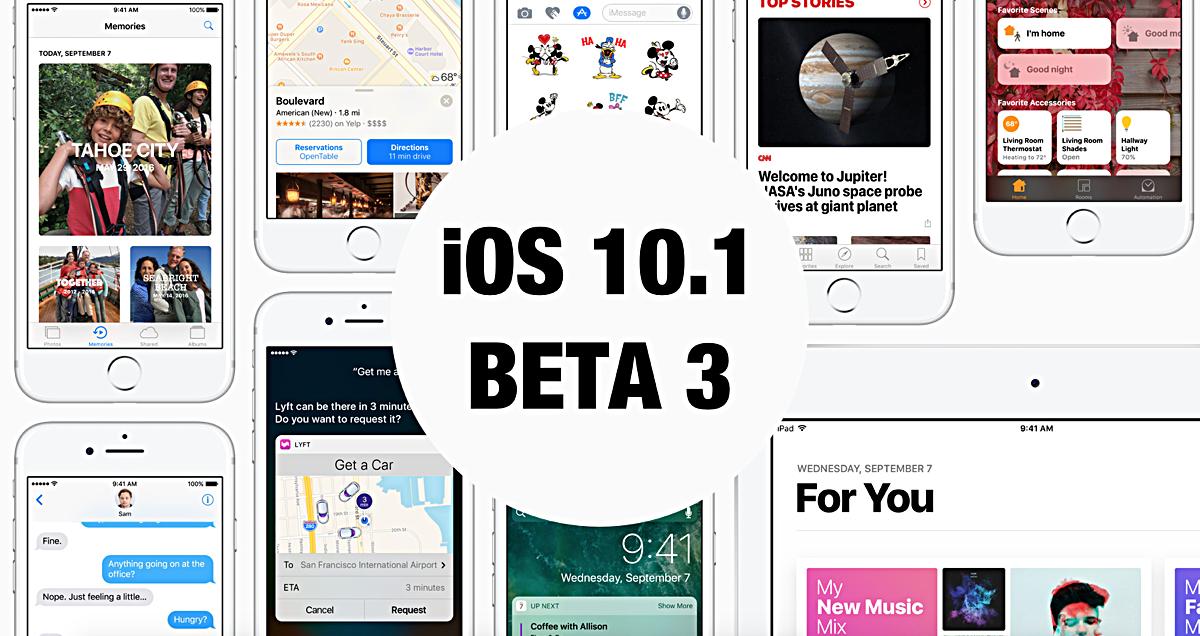 iOS 10.1 Developer Beta 3