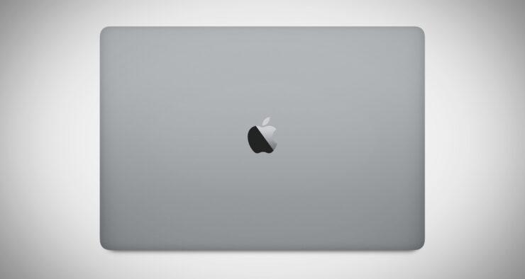 glowing Apple logo