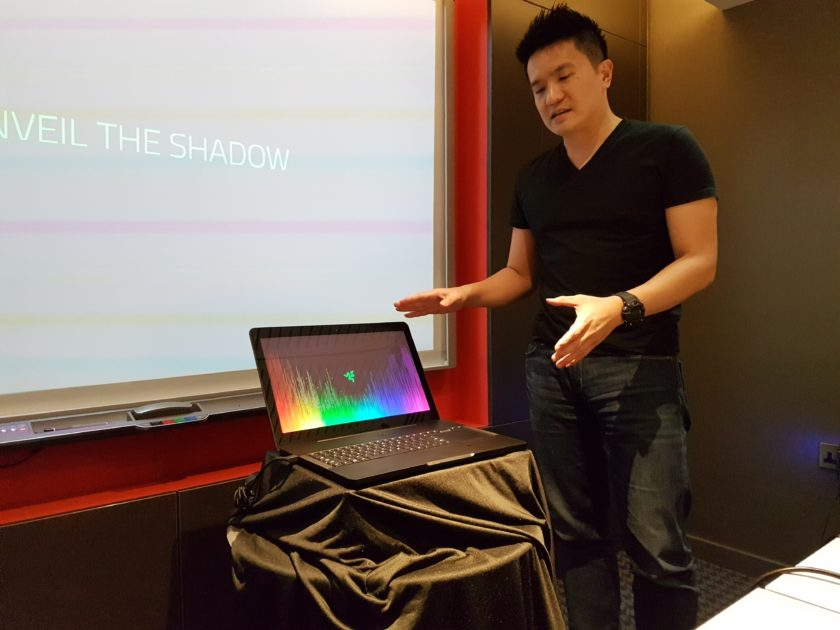 Min presents the new Razer Blade Pro to me...