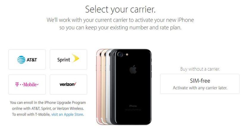 SIM-free iPhone 7
