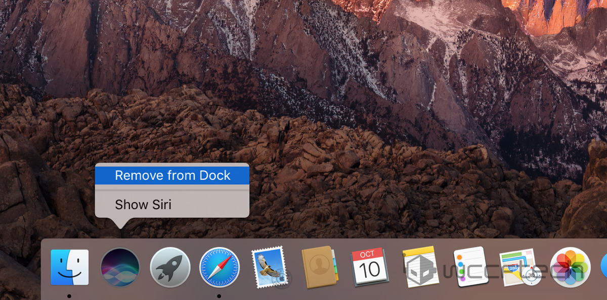 How to Remove Siri Icon From macOS Menu Bar, Dock