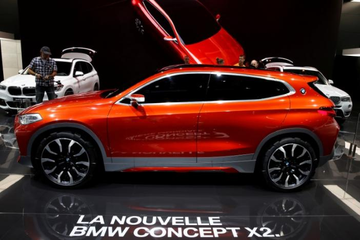 The new BMW X2 concept car is displayed on media day at the Paris auto show, in Paris, France, September 30, 2016. REUTERS/Benoit Tessier