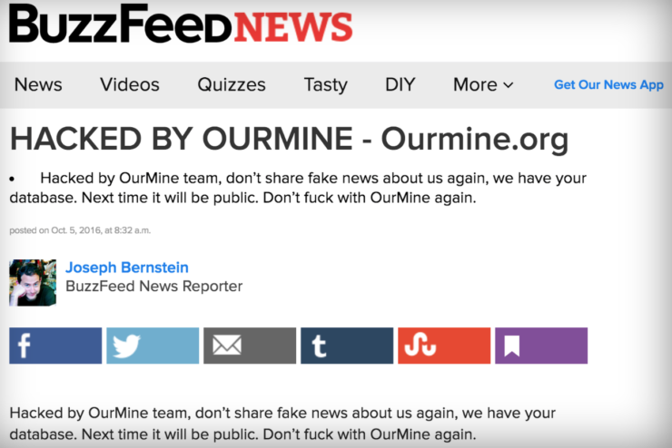 BuzzFeed Hacked