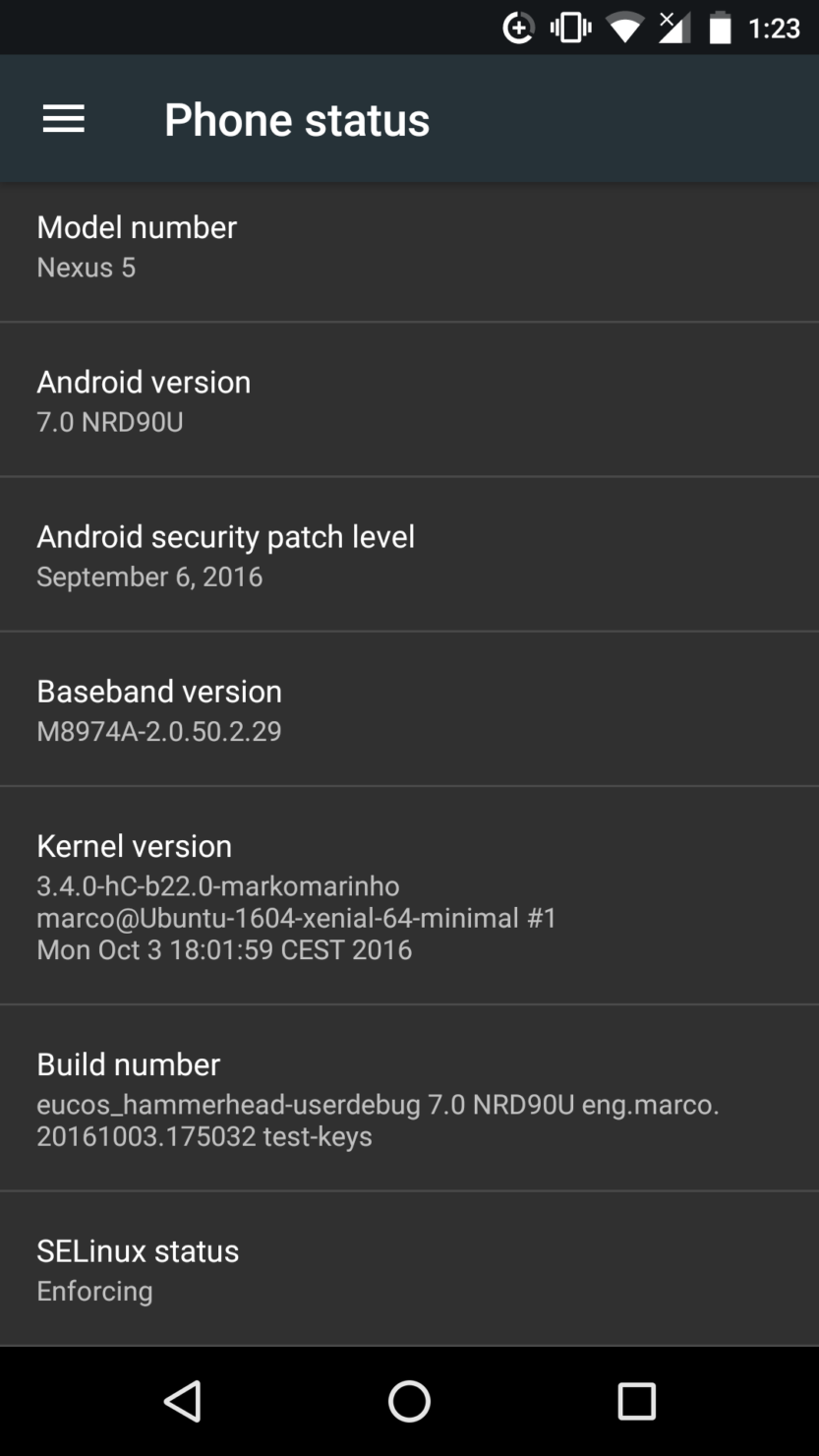 Android 7 for Nexus 5