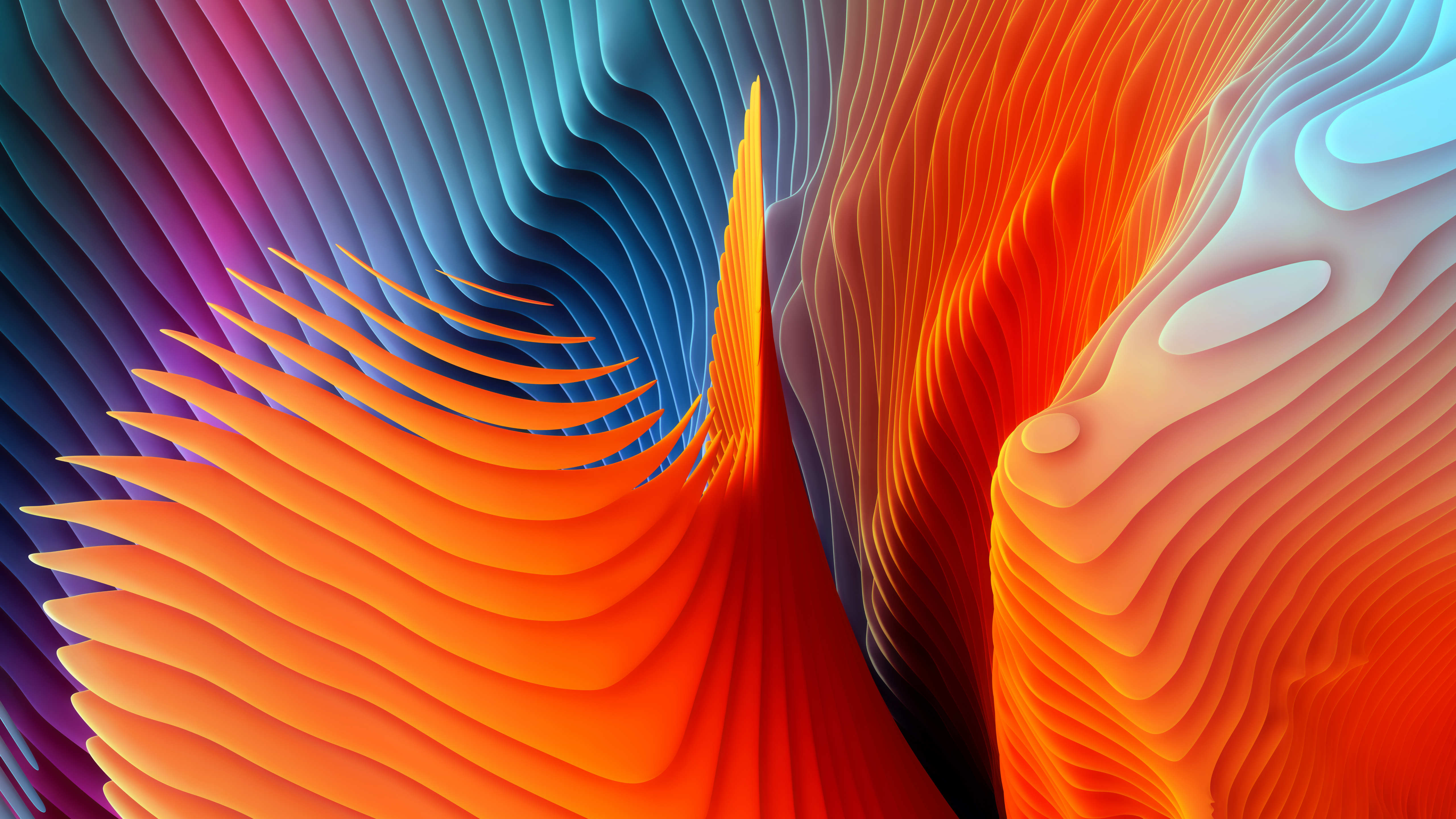 Download New Color Splash Abstract Shapes Wallpapers