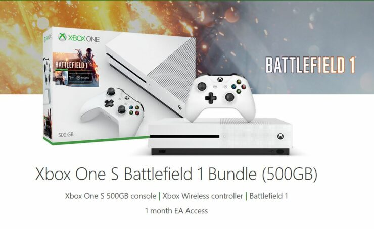 Xbox One S Black Friday Deal Battllefield 1 bundle gears of war 4 extra controller
