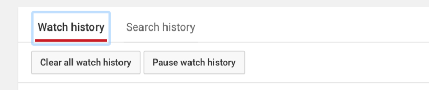 Clear History buttons Web