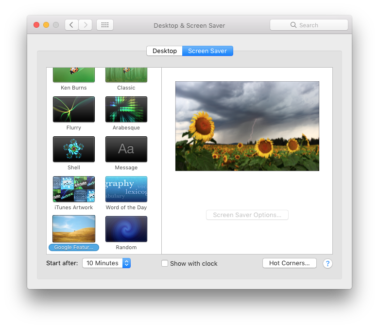 Featured Photos screensaver