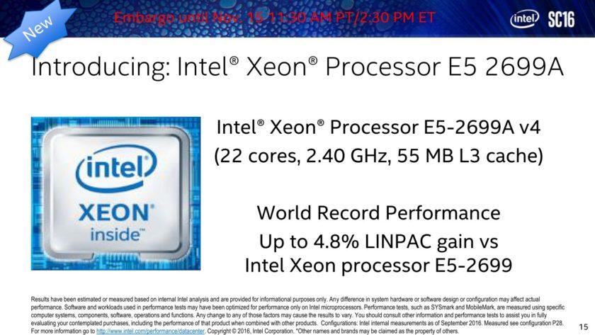 Intel Broadwell-EP Xeon E5-2699A V4 Processor