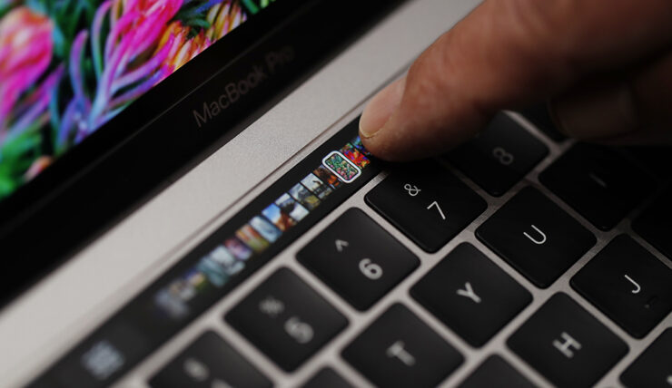 Microsoft keyboard Touch Bar