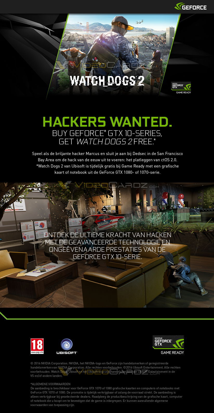 NVIDIA & Ubisoft Give Away Watch Dogs 2 If You Buy GTX1080