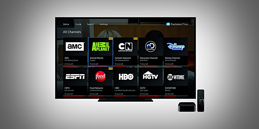 PlayStation Vue App for Apple TV 4 Released - A Great Gift