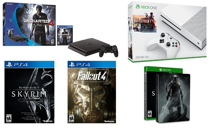 Amazing amazon black friday ps4 slim uncharted 4 fallout for Manette xbox one elite black friday