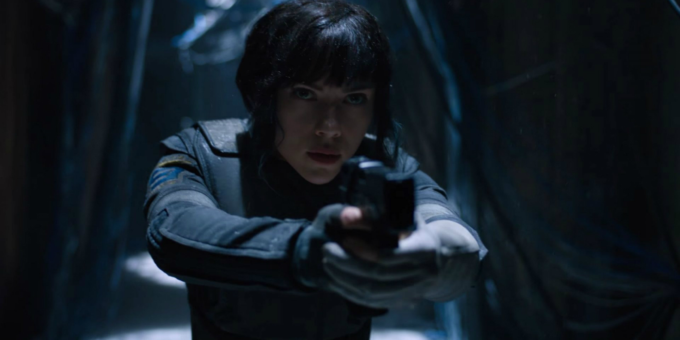 ghost in the shell gets dazzling first trailer. Black Bedroom Furniture Sets. Home Design Ideas