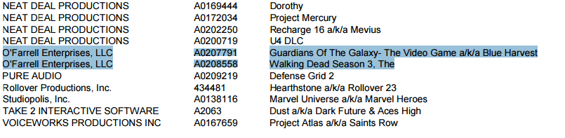 guardians of the galaxy listing