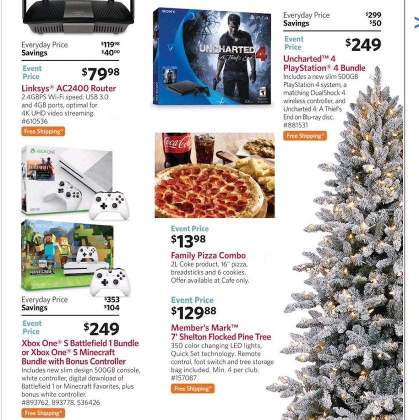Sam's Club Black Friday Xbox One PS4 Deals